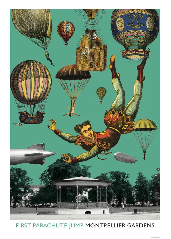 First parachute jump - Montpellier Gardens Cheltenham